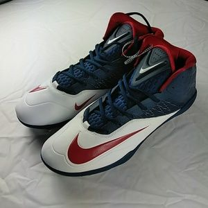 Nike Zoom Football Cleats Red White Blue Size 15